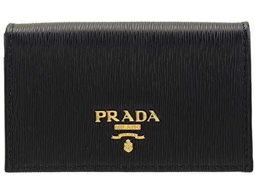 [プラダ] PRADA カードケース 名刺入れ レザー アウトレット 1MC122 [並行輸入品]  ブラック B07QBBH9HT
