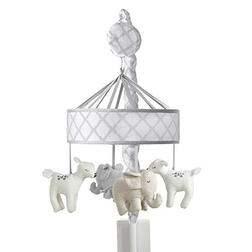 Just Born Keepsake Musical Mobile, Grey Elephant and Deer, One - Musical Keepsake