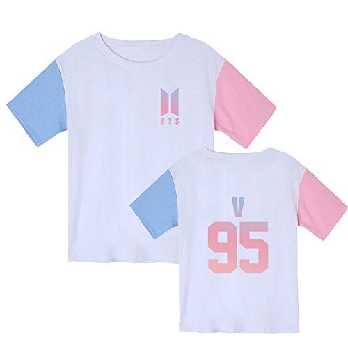 Kpop BTS Bangtan Boys Love Yourself Multicolor Tshirt Rap Monster Suga Rap Monster Tee