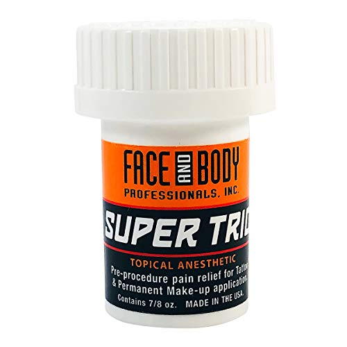 (Face and Body Super Trio Topical Pre-Procedure Anesthetic Numbing Cream Tattoo Anesthetics 7/8 oz)
