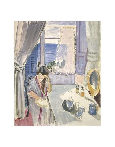 Woman Reading Matisse - Woman Reading at a Dressing Table, late 1919 by Henri Matisse, Art Print Poster 14