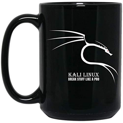 (Kali Linux Break Stuff Like A Pro Dragon Backtrack Ethical Hacking 15oz Coffee Mug Black Ceramic - Novelty Mugs Gifts Store)