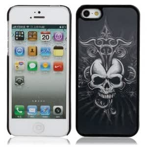3D Skull Pattern Protective Hard Back Case for iPhone 5 Multi-color(1)