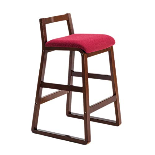 (FLHAINVER Jane domain bar Chair Solid Wood high Stool Retro bar Chair bar Stool bar Chair Creative Fashion bar Stool high Stool (Color : B))