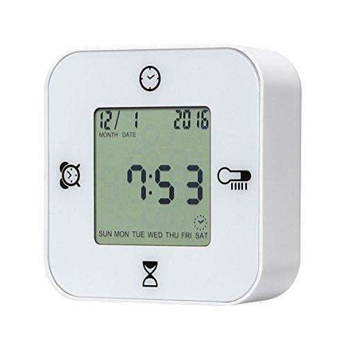 Protmex EM1203A Smart 4 IN 1 Alarm Clock - Timer And Clock