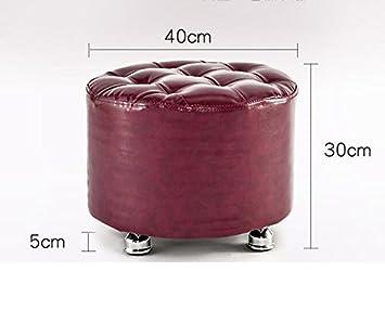 Farbe : Brown-A bequem und langlebig Mode einfach Xin-stool Ruhiger Hocker//Hocker // f/ür Schuhhocker