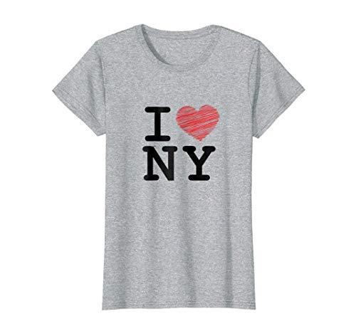 Womens I love Newyork, T-shirt, Sleeveless, NY, Heart Small Heather Grey