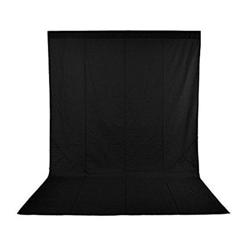 Andoer 1.6 x 3M / 5 x 10FT Photography Studio Non-woven Backdrop / Background Screen 3 Colors for Option Black White Green