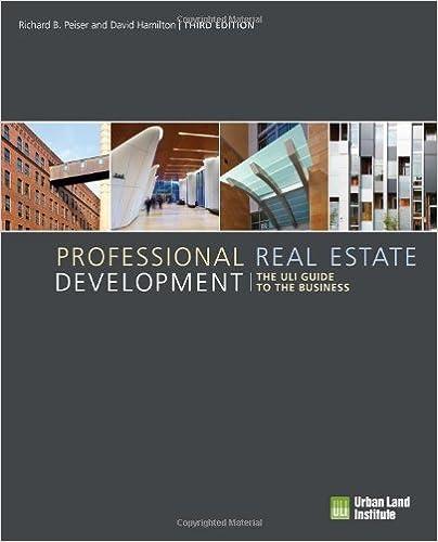 Download E-books Professional Real Estate Development: The