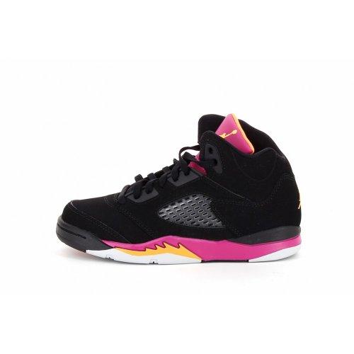 20d98e1333b0 Galleon - Nike Air Jordan 5 Retro (PS) Girls Basketball Shoes 440893-067  Black 11.5 M US