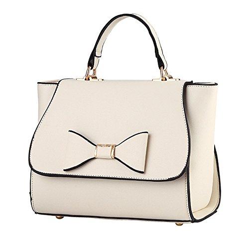 Wewod bolsos bandolera para mujer/bolso de hombro mujer baratos/carteras de mano/bolso shopper de Casual 23 x 19 x 12 cm (L*H*W) Beige