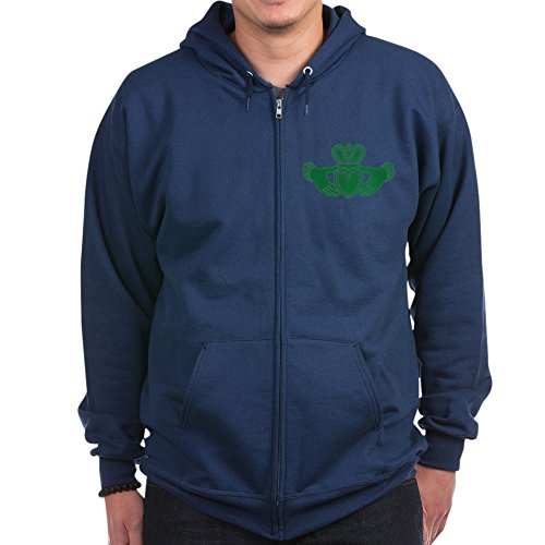 - CafePress - Celtic Claddagh Zip Hoodie (Dark) - Zip Hoodie, Classic Hooded Sweatshirt with Metal Zipper Navy