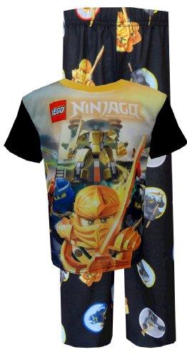 Lego Ninjago Big Boys' 2 Piece Pajama Set, Black, 8