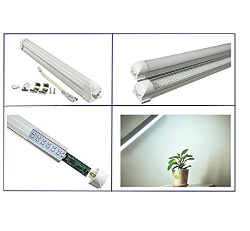 20 packagingT8LED tube4 eet48 inch 24W192pc V-type dou ble row lampLED 3000Kcolor temperature 2500 lumens 50,000 hoursLED tube milky white cover UL and CE certified Operating temperature: -20 ℃ to 50 by YURUI (Image #1)