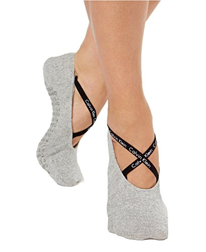 Calvin Klein Women's Ballet No Show Athletic Socks (Pearl Grey Heather)