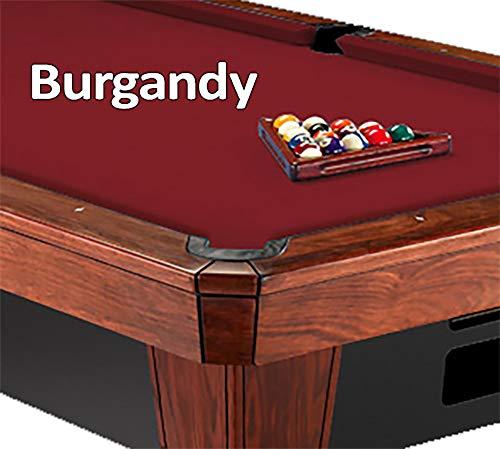 8 Oversize Table Burgundy Pool (8' Oversized Simonis 860 Burgundy Billiard Pool Table Cloth Felt)