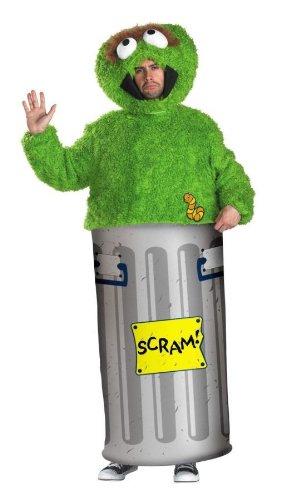 Retro Oscar Grouch Men's Costume XL (42-46) ()