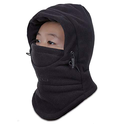 (OJSCOS Children's Kids Balaclava Outdoor Hats Winter Warm Face Cover Cap (Black))