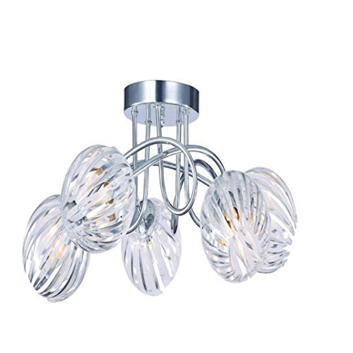 kliving minardi modern chrome clear acrylic 5 light chandelier
