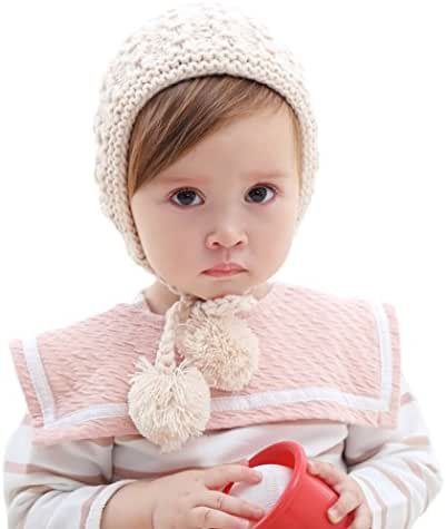 inSowni Winter Warm Crochet Hat Cap Bonnet for Baby Girl Toddlers Infants