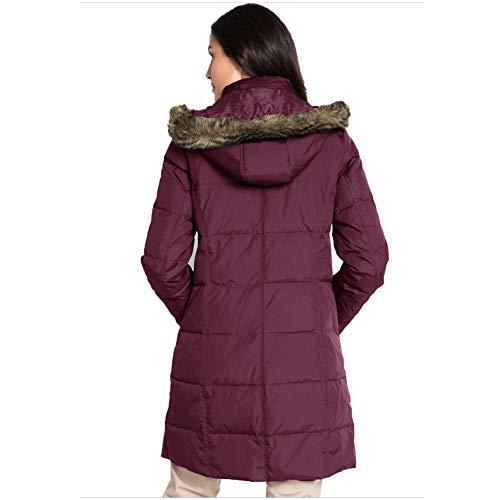 Caldo Piumino Parte Dimensioni Grandi Collo Imbottito Lunga Mnlxl Di In Red Invernale Cotone Cappotto Con Alto Nella xUBxqYwd