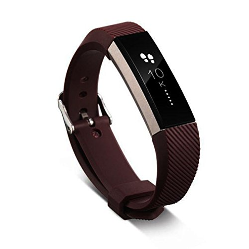 Toamen For Fitbit Alta Heart Rate and Fitness Wristband (Brown)