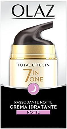 Olay Total Effects - Crema de Noche Hidratante Reafirmante 7 en 1, Blanco, 50 Mililitros