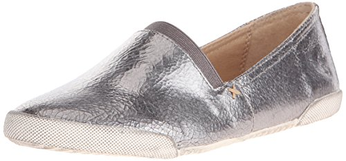 FRYE Women's Melanie Slip On Fashion Sneaker, Pewter, 7.5 M US by FRYE