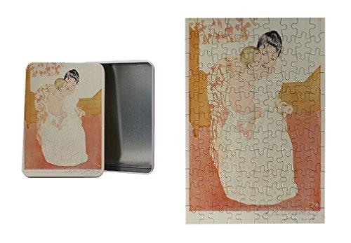 Motherly Tenderness (Cassatt) Metal Tin Trinket Box (4