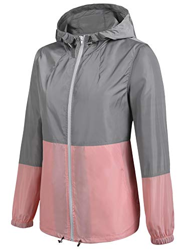 2 Giacca Pink Impermeabile Donna Style Meaneor nIYRd4UwI