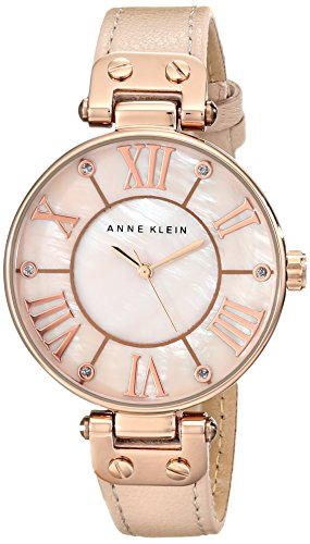 (Anne Klein Women's 10/9918RGLP Rose Gold-Tone Watch with Leather Band)