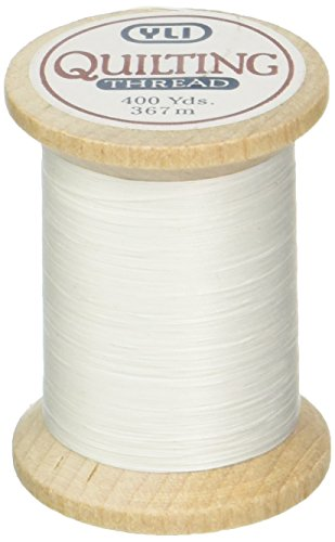 YLI 21104-WHT 3-Ply T-40 Cotton Hand Quilting Thread, 400 yd, White ()