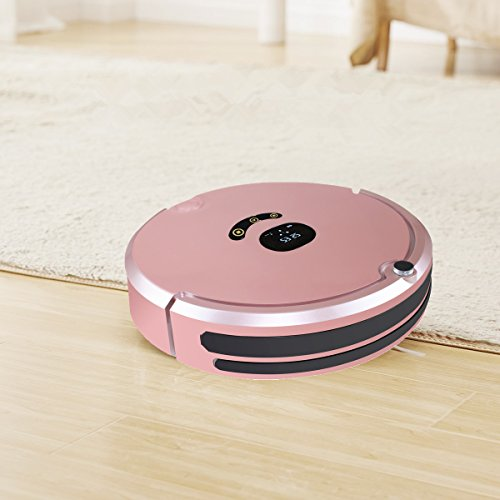 HUIBOT S01 Robotic Vacuum Mop Sweeper Cleaner With Virtual Wall Anti-Drop Self Charging for Pet Hair Allergens for Hard Wood Floor and Thin Carpet (Rose) by HUIBOT (Image #2)