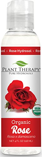 Plant Therapy Organic Rose Hydrosol. (Flower Water, Floral Water, Hydrolats, Distillates) Bi-Product of Essential Oils. 4 oz. (Water Rose Floral)