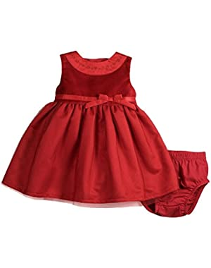 Red Velvet Tulle 2 Piece Dress Set 18 Months