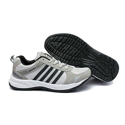 41vHA%2BNgeyL. SS500  - ASIAN Wonder-13 Grey Black Running Shoes for Men
