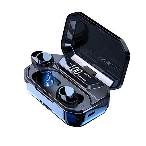 B4Tech - True Wireless Earbuds, with Charging Case, True Wireless Earbuds Bluetooth 5.0, Active Noise Cancelling Earbuds, W 3300 Mah Battery Power Bank, Wireless Earbuds Bluetooth