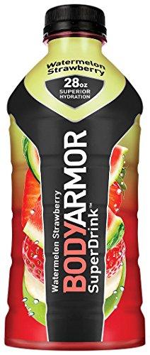 BodyArmor SuperDrink 28 oz Bottles (Watermelon Strawberry, Pack of 12)