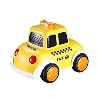 LOONGON STEM Building Toys for Boys & Girls Building Blocks Taxi Car Toys Build Your Own Toy Car with 26 Piece Constructions Set Toy Car Great Gift Toys for Kids