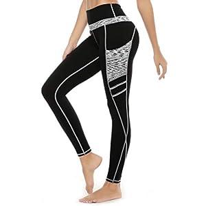 Legging Femmes, Legging de Sport Femme,Pantalon Yoga avec Poche,Taille Haute Femmes Mode Faire des Exercices Leggings…