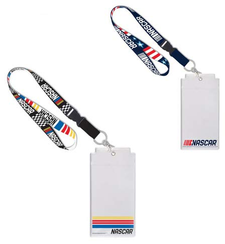 WinCraft NASCAR Gift Set 2 Premium Lanyards with Credential Holders