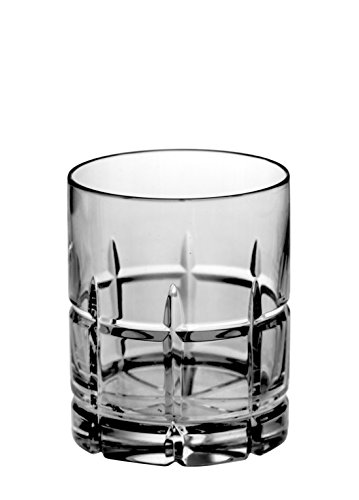 Cut Old Fashioned (Barski - Set of 4 - Hand Cut - Mouth Blown - Crystal - DOF - Double Old Fashioned Tumblers - 14oz. - Made in Europe - Set of 4)