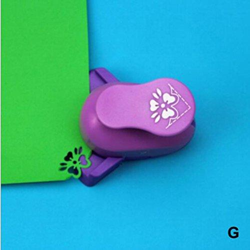 Embossing Device - Iusun DIY Embossing Machine Corner Paper Printing Card Cutter Shaper Scrapbook Punch Kids Handmade Gift (F)