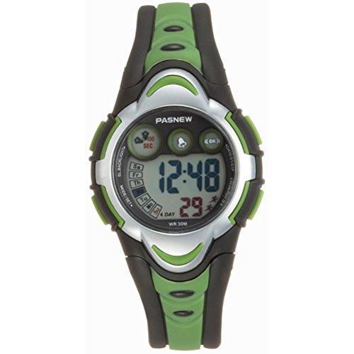 WINOMO PASNEW wasserdichte Kinder Studenten LED Digital Sport Uhr (grün)