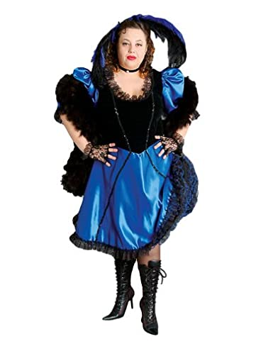 Victorian Plus Size Dresses, Clothing, Costumes Deluxe Plus Size Saloon Girl Theatrical Quality Costume $349.99 AT vintagedancer.com