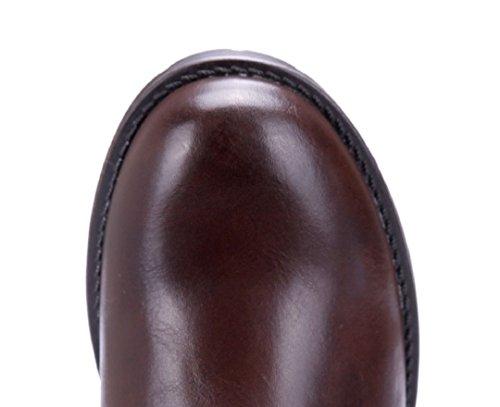 Schuhtempel24 Damen Schuhe Klassische Stiefeletten Stiefel Boots Blockabsatz Schnalle 3 cm Braun