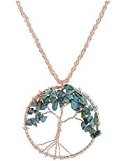 Tree of life Pendant Handmade Crystal Necklace Jewelry For Women