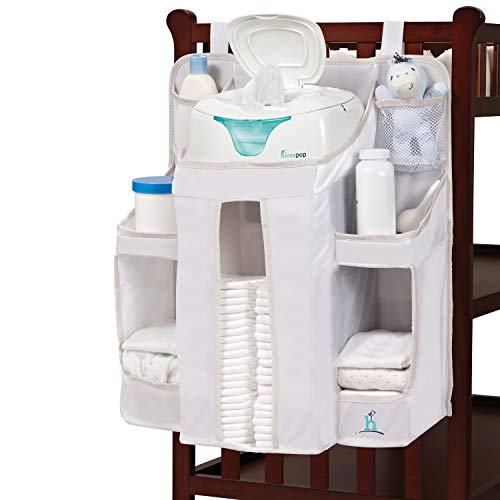 hiccapop Nursery Organizer and Baby Diaper Caddy | Hanging Diaper Organization Storage for Baby Essentials | Hang on Crib, Changing Table or Wall