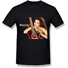 YX Shania Twain Poster T Shirt For Men Black XL