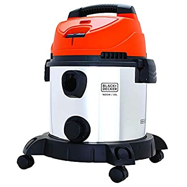 BLACK+DECKER WDBDS20 20-Litre, 1400 Watt, 16 KPa High Suction Wet and Dry Stainless Steel Vacuum Cleaner and Blower with HEPA Filter and Reusable Dustbag (Red) 8